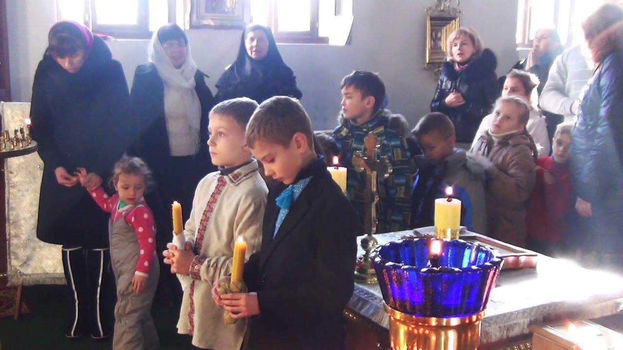 Перше врочисте Св. Причастя дітей в Покотилівському василіянському монастирі