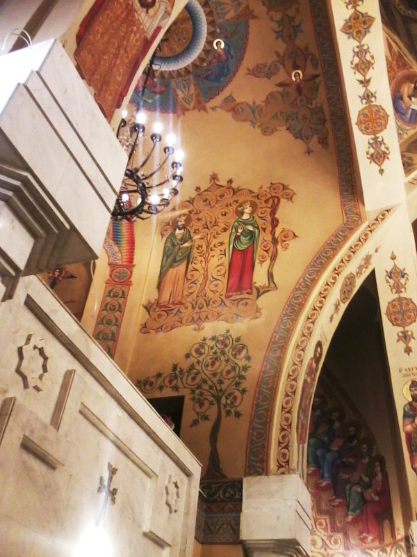 """Розпис """"Адам і Єва"""" в храмі """"Сурб Арутюн"""" (Святого Воскресіння) Вірменської Апостольської Церкви в Харкові"""